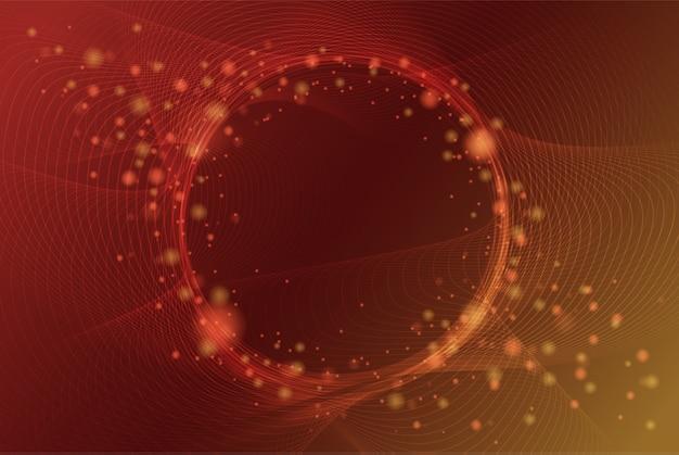 円の空間の背景とエレガントな抽象的な光沢のある粒子