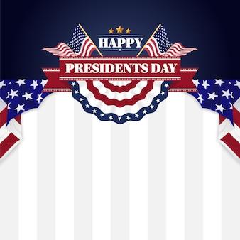 ハッピー大統領の日バナーの背景とグリーティングカード