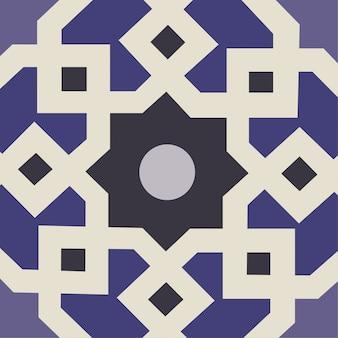 青い伝統的なパターンの背景