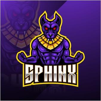 Логотип спортивного талисмана сфинкса