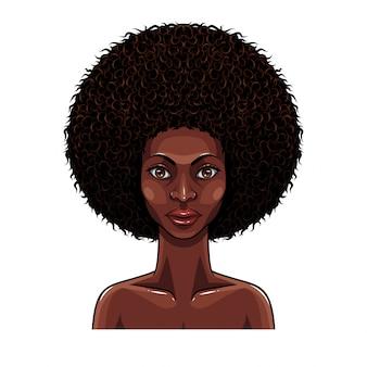 アフリカの美しさの女性の肖像画
