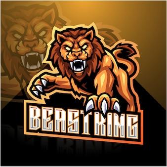 Логотип талисмана льва киберспорта