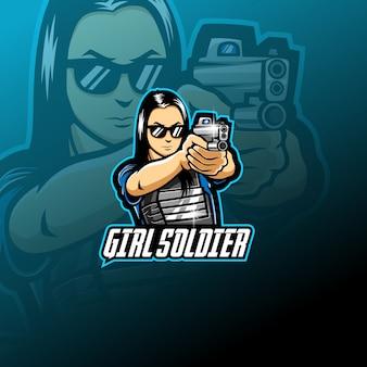 Девушка-солдат талисман