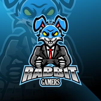 Дизайн логотипа талисмана кролика киберспорта