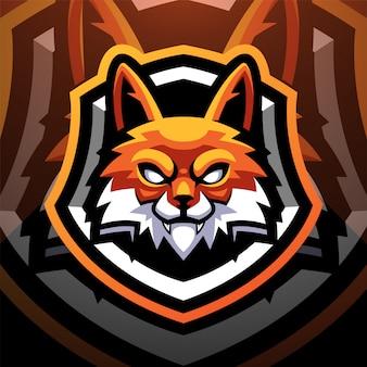 Дизайн логотипа спорт талисман головы лисы