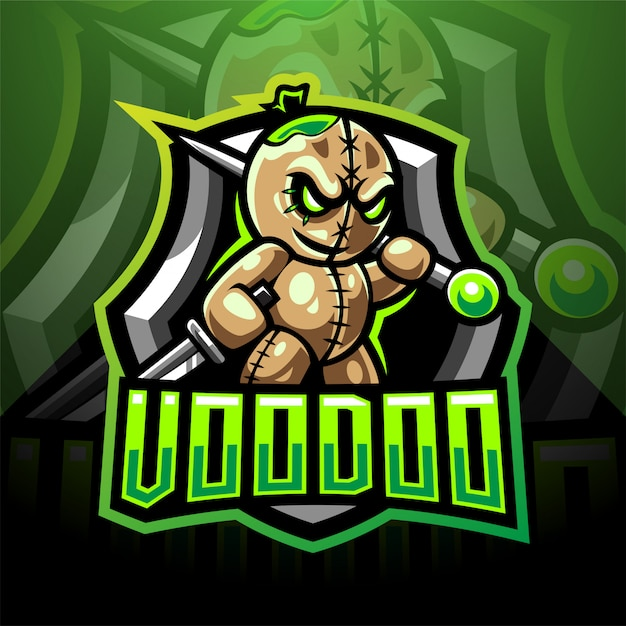 Вуду киберспорт дизайн логотипа