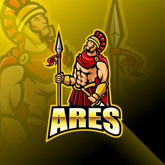 Арес киберспорт дизайн логотипа