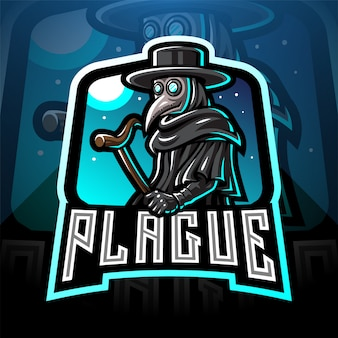 Чумной доктор киберспортивный талисман логотип