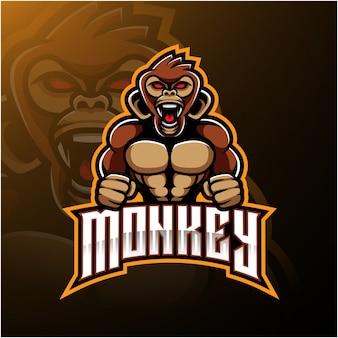 怒っている猿のロゴ