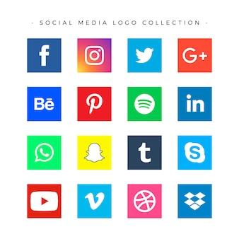 Коллекция логотипов популярных социальных сетей
