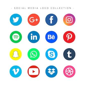 Набор логотипов в социальных сетях