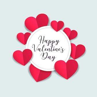День святого валентина с бумажными сердцами