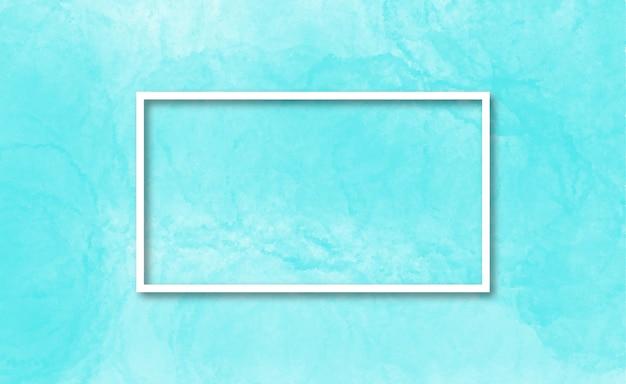 明るい青の水彩画の背景でエレガントなフレーム