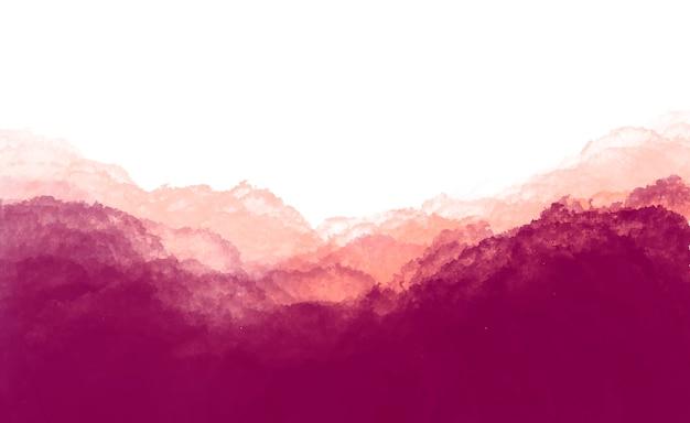 あずき色の水彩背景