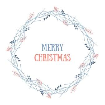 Веселый рождественский венок