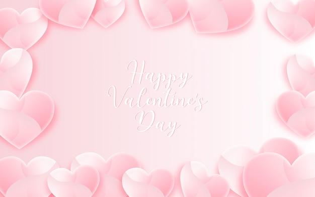 ピンクのバレンタインデーの背景