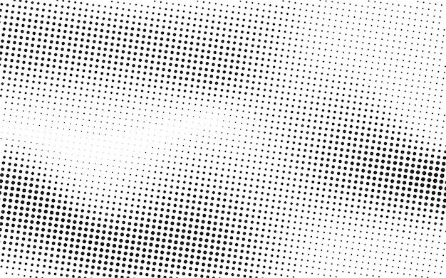 黒い波のハーフトーンの背景