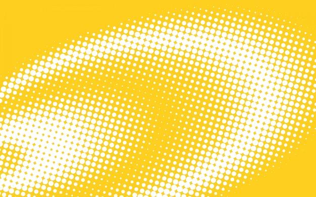 黄色のハーフトーンの背景