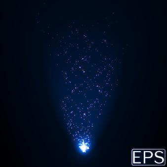 粒子を含むエネルギービームブルーバージョン。