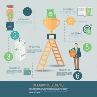 Бизнес-шаблон инфографики