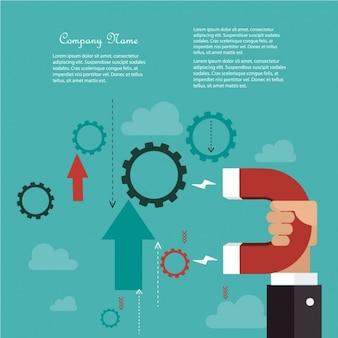 ビジネス背景デザイン