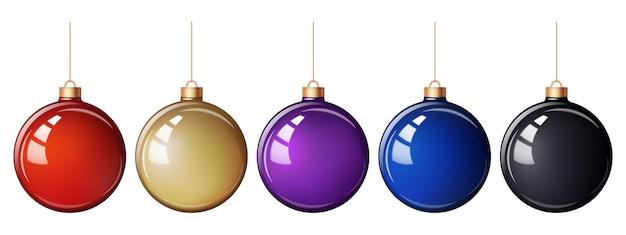 ガラス光沢のあるクリスマスボール