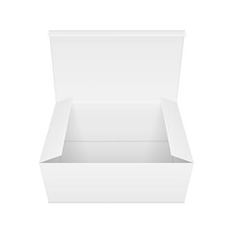 空白の開いた長方形の紙箱。