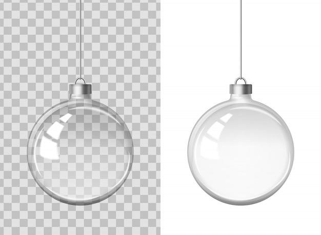 透明なクリスマスボール。