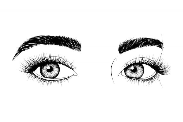手描きの目
