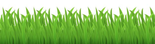 緑の芝生のシームレスな画像をベクトル