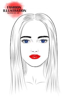 若い女性の肖像画。