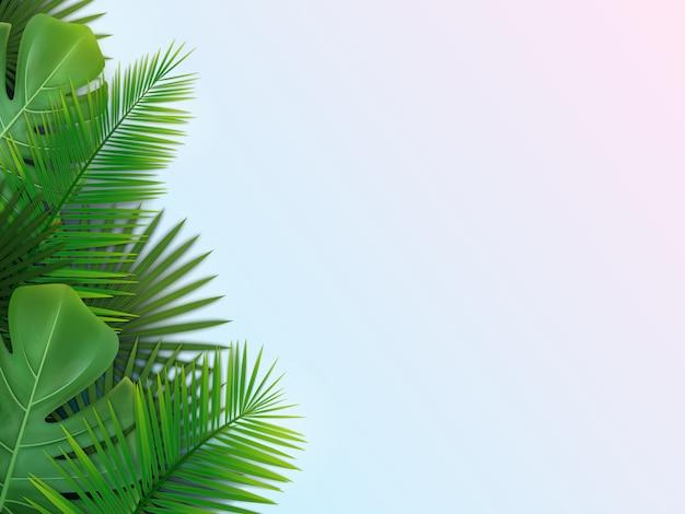 Фон с тропическими листьями