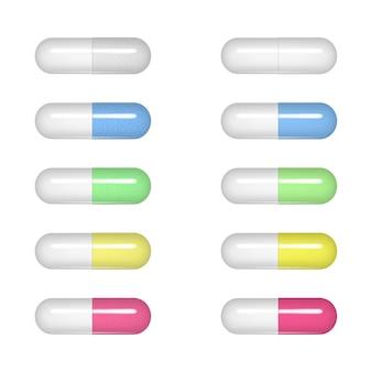 楕円形の錠剤。