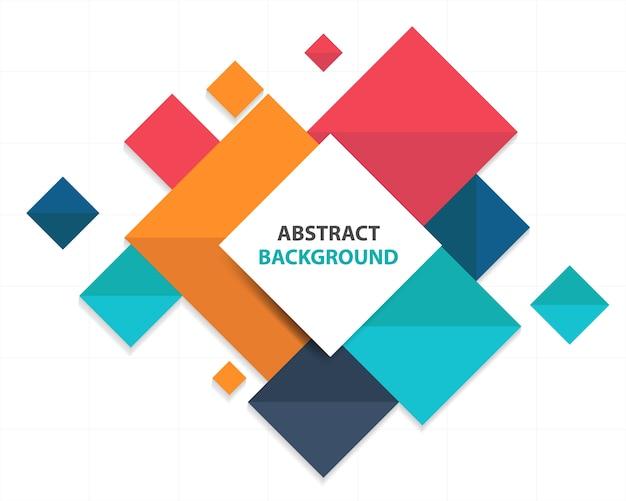 Красочный абстрактный квадрат бизнес-инфографический шаблон