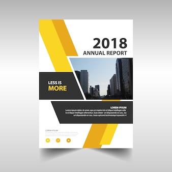 黄色の創造的な年次報告書テンプレート