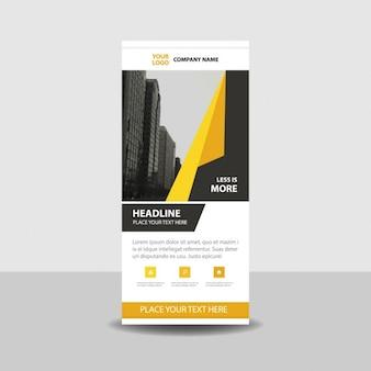黄色の形状のロールアップ