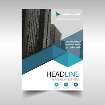 Синий творческий годовой отчет шаблон обложка книги