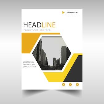 Желтый творческий годовой отчет шаблон обложка книги