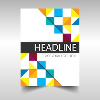カラフルな創造的な年次報告書のカバーテンプレート