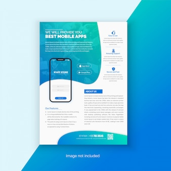 Шаблон флаера для мобильного приложения