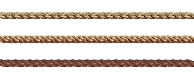 さまざまなロープの文字列のコレクション