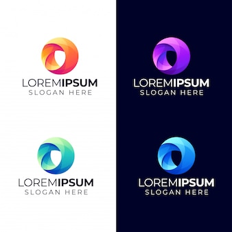 Абстрактный круг логотип