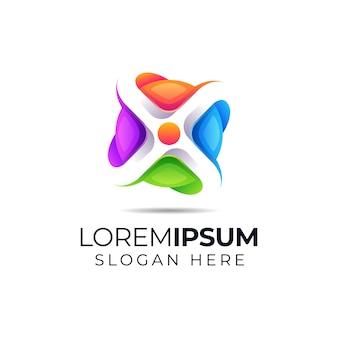 Абстрактный буква х логотип