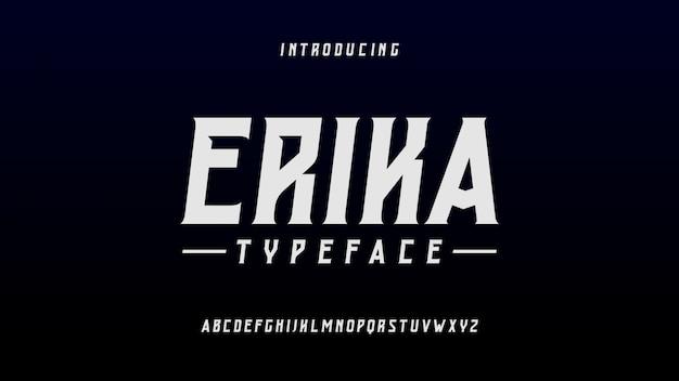 Эрика футуристический шрифт