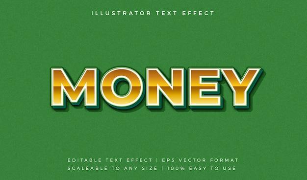金のお金のテキストスタイルのフォント効果
