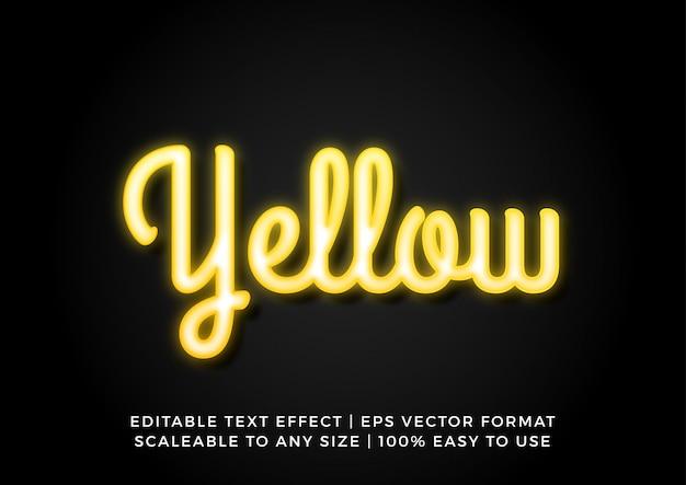 黄色のネオンレトロなテキスト効果