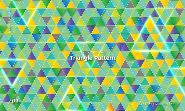 カラフルな三角形のパターンの背景