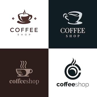 Логотип премиум элегант кофейня