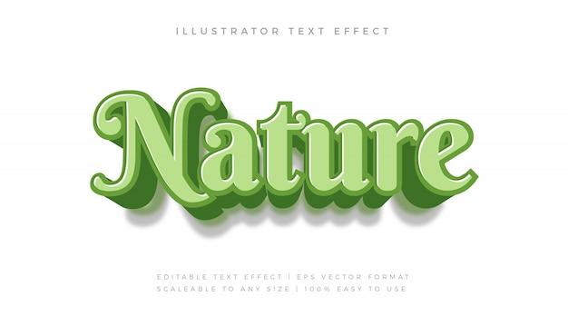 緑の自然手書きテキストスタイルフォント効果
