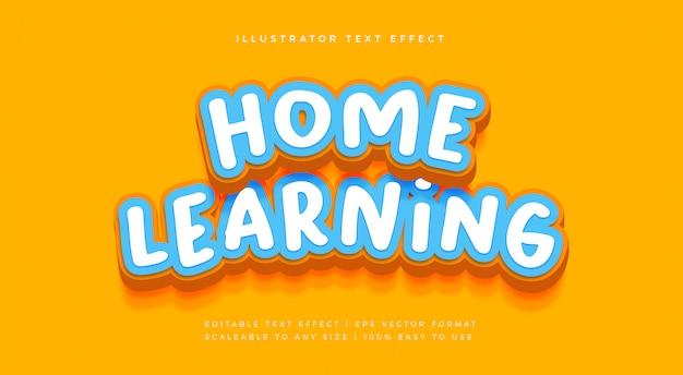 Детский игровой текстовый эффект шрифта